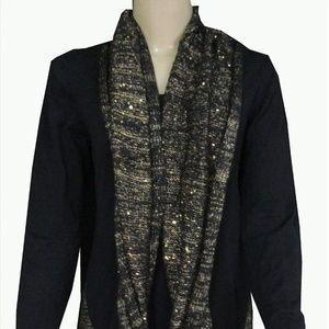Style & Co Scarf Sweaters Deep Black Combo Medium